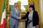 FINI INCONTRA LA PRESIDENTE DELLA CAMERA DEI RAPPRESENTANTI DELL'URUGUAY