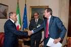 FINI INCONTRA IL PRESIDENTE DEL CONSIGLIO NAZIONALE DI TRANSIZIONE DELLA LIBIA