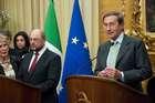 FINI INCONTRA IL PRESIDENTE DEL PARLAMENTO EUROPEO