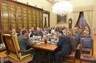FINI RICEVE UNA DELEGAZIONE DELLA CAMERA DI COMMERCIO ITALO-AMERICANA